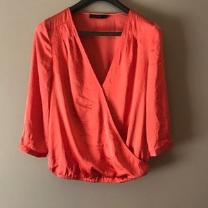 Limited Medium burnt orange fall colored  blouse